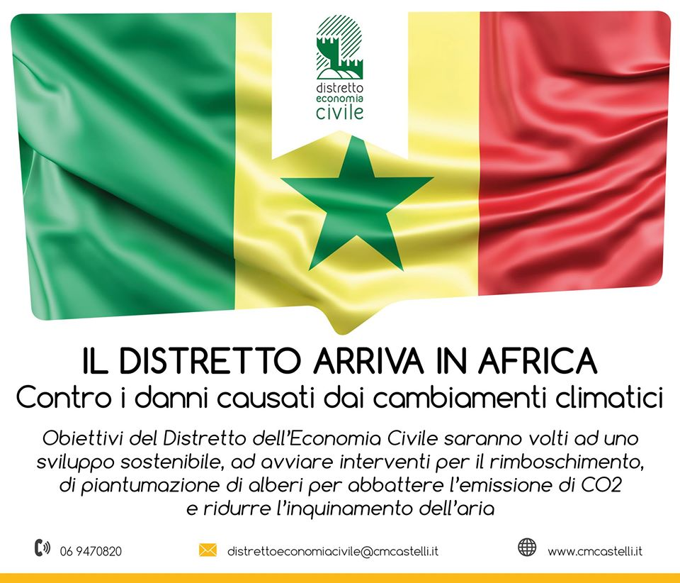 LA COMUNITÀ MONTANA CASTELLI ROMANI E PRENESTINI CAPOFILA DEL PROGETTO PER ISTITUIRE UN DISTRETTO DELL'ECONOMIA CIVILE IN AFRICA