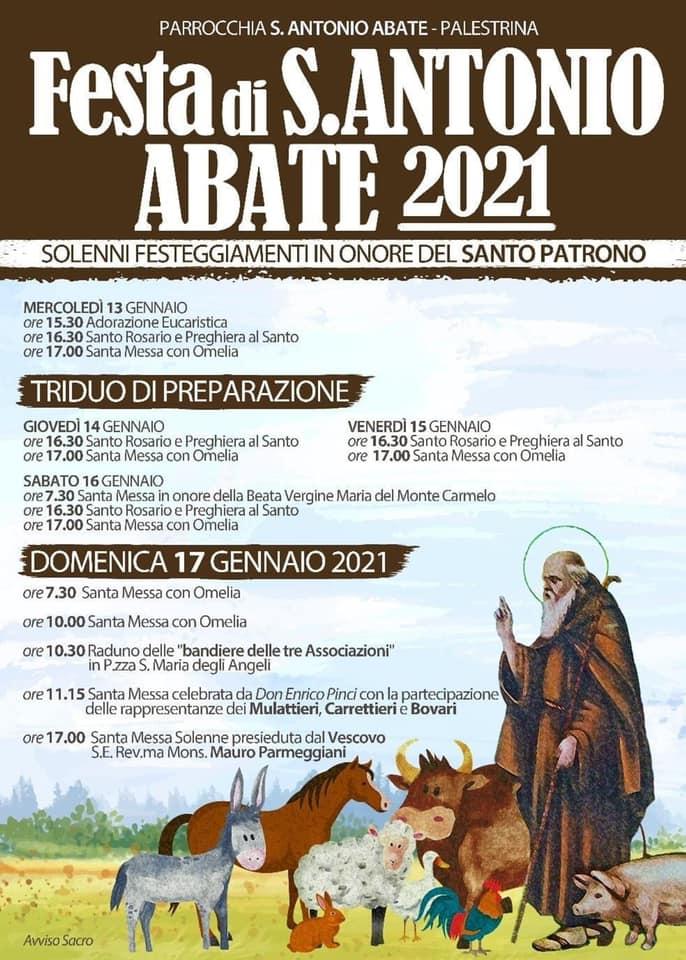 FESTEGGIAMENTI IN ONORE DI SANT'ANTONIO ABATE A PALESTRINA
