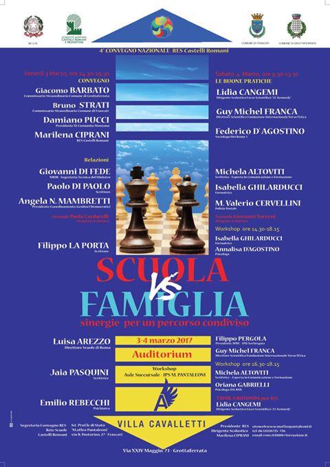 IV CONVEGNO NAZIONALE RES CASTELLI ROMANI - SCUOLA VS FAMIGLIA
