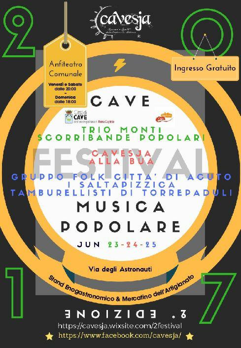 FESTIVAL DI MUSICA POPOLARE A CAVE