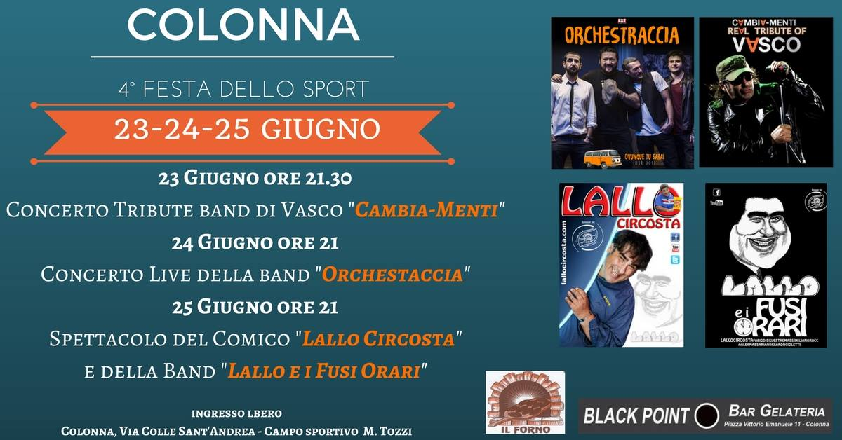 4° Festa dello Sport di Colonna