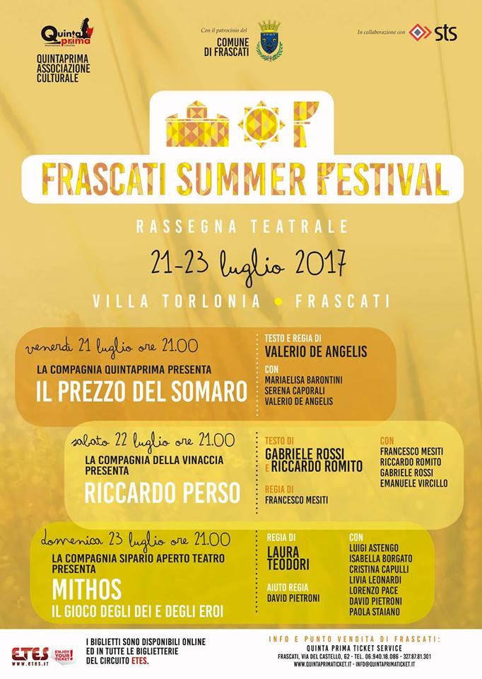 FRASCATI SUMMER FESTIVAL