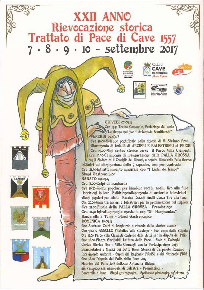 Trattato Di Pace Di Cave 1557 - 2017 XXII Edizione