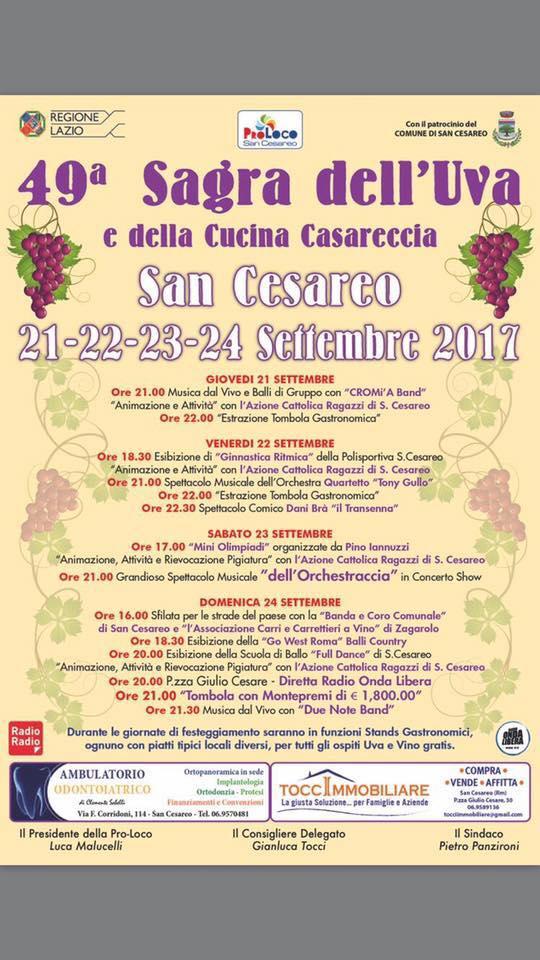 49° Sagra dell'uva e della cucina casareccia a San Cesareo