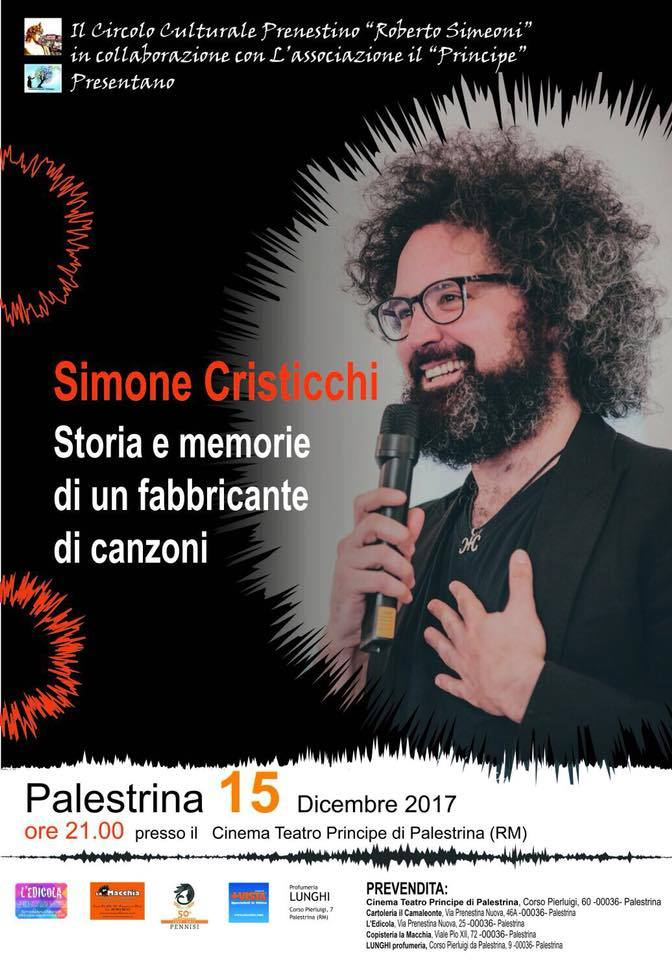Simone Cristicchi - Storia e memorie di un fabbricante di canzoni - a Palestrina