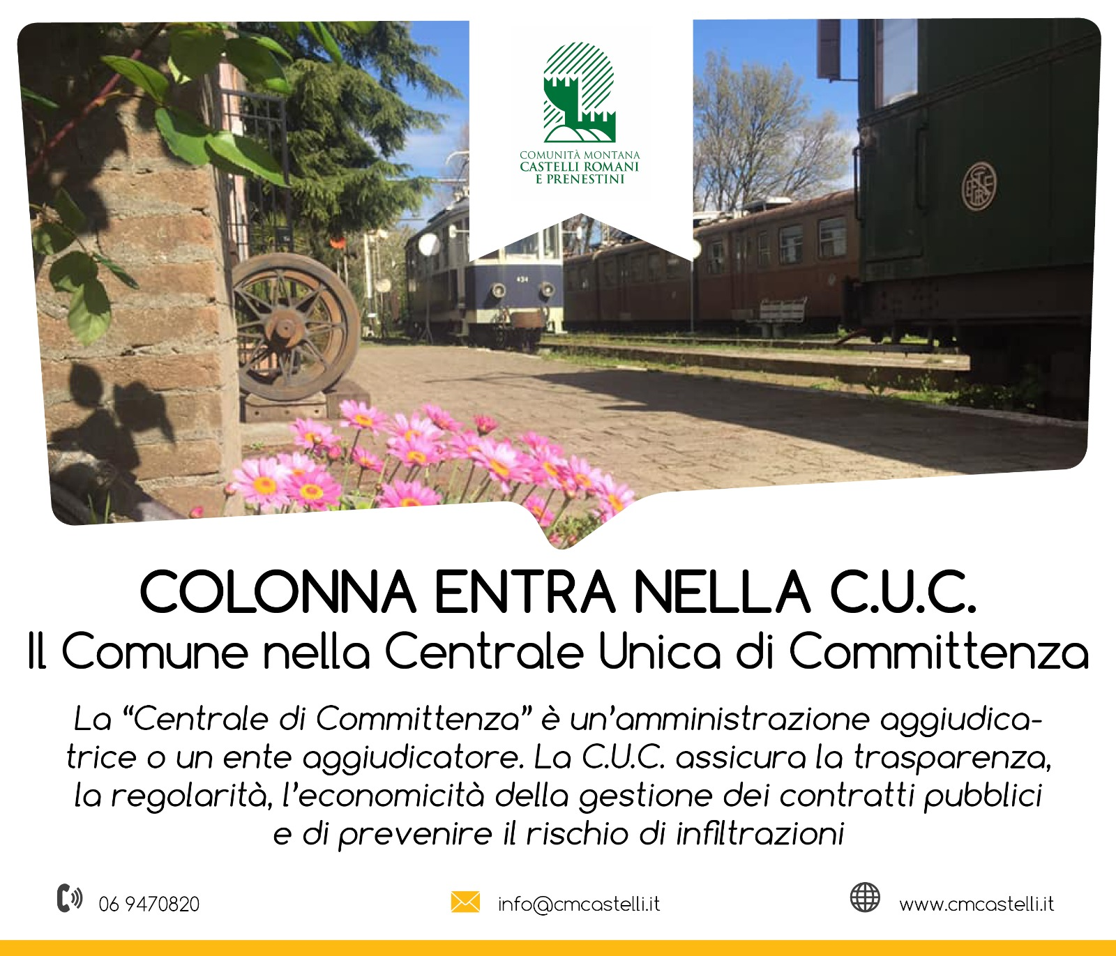 IL COMUNE DI COLONNA ADERISCE ALLA CENTRALE UNICA DI COMMITTENZA