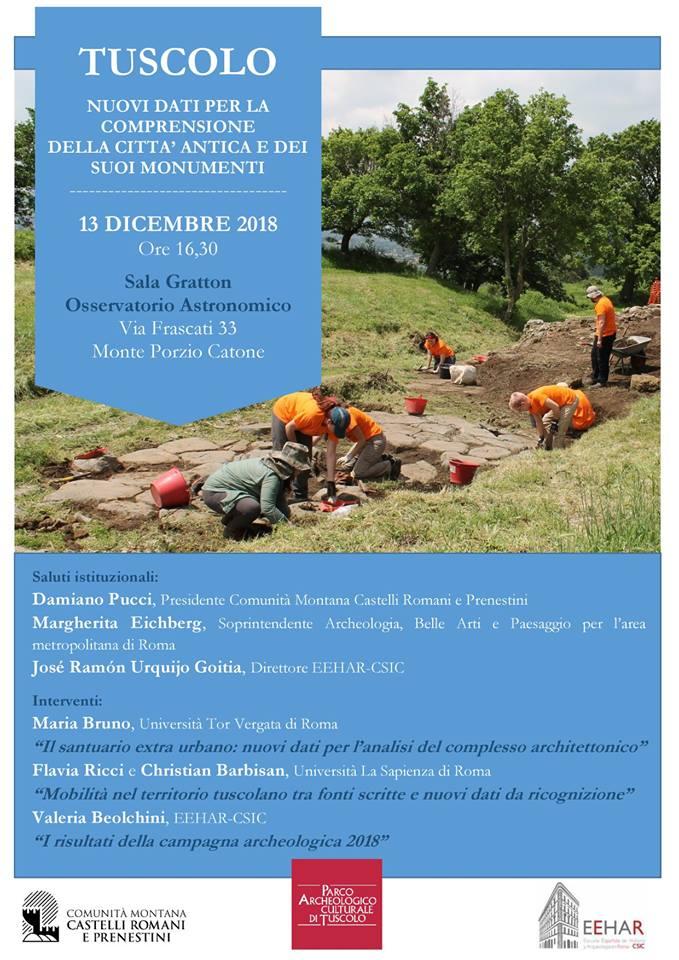 Ultime novità sulle ricerche archeologiche a Tuscolo
