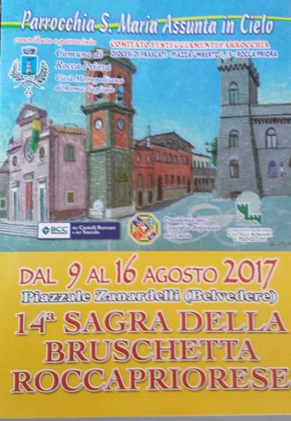 14° Sagra della Bruschetta a Rocca Priora