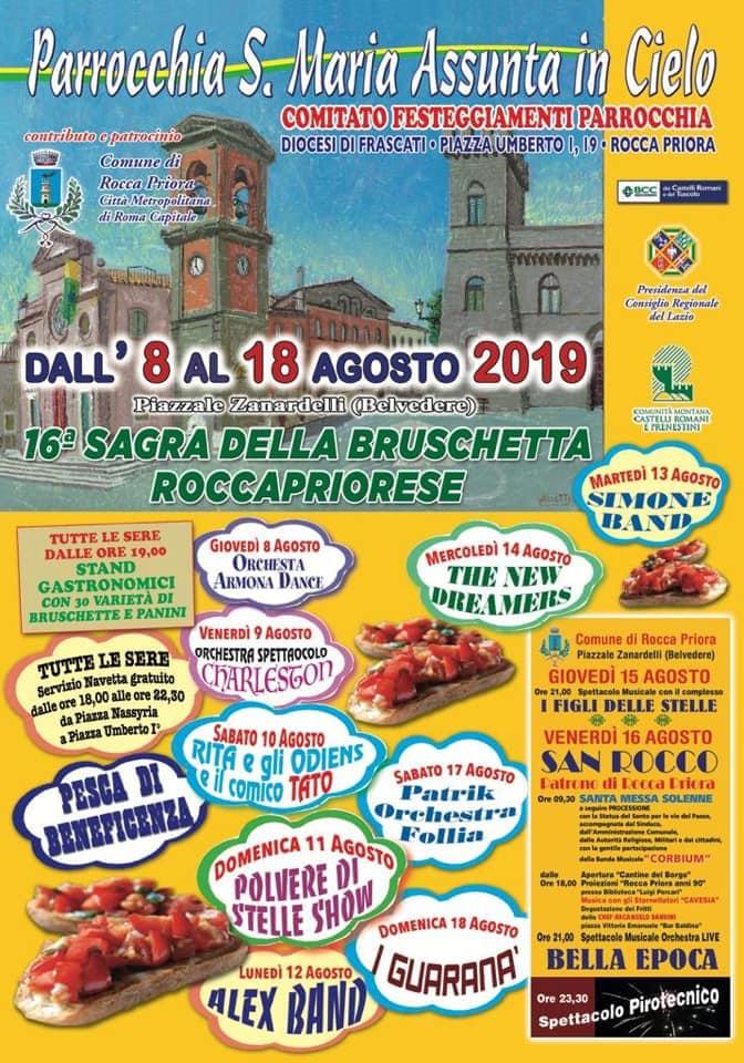 Festa della Bruschetta a Rocca Priora