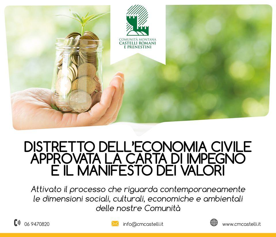 Approvata la Carta di Impegno e il Manifesto dei Valori dell'Economia Civile