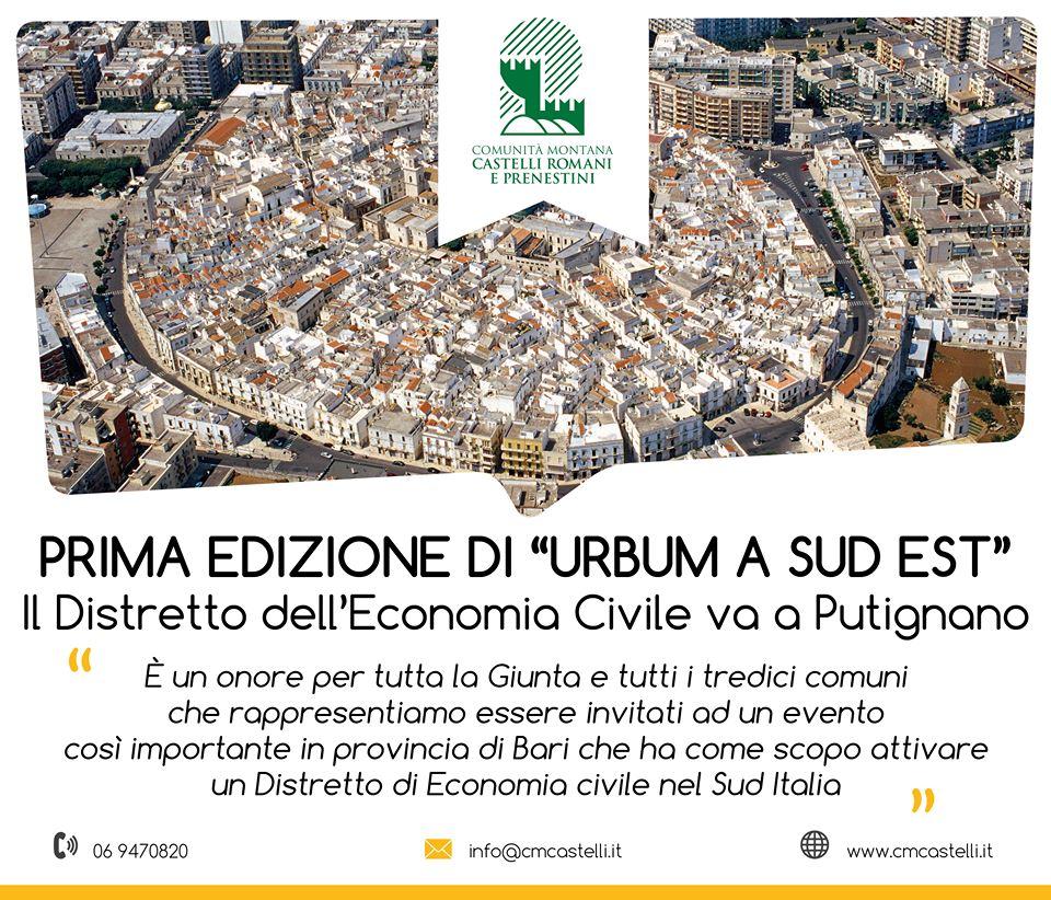Il Distretto dell'Economia Civile e Sociale dei Castelli Romani alla prima edizione di UrBum a Sud Est a Putignano