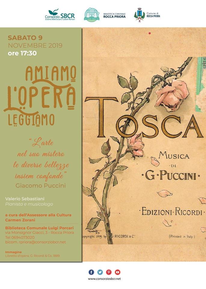 Amiamo L'opera -  La Tosca a Rocca Priora