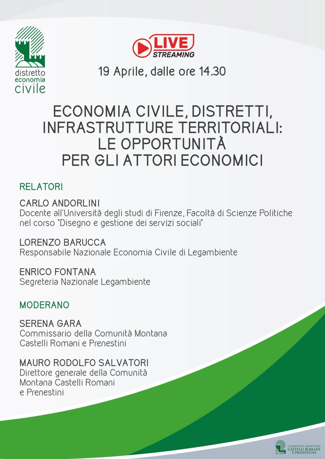ECONOMIA CIVILE - UN WEBINAR GRATUITO PER GLI ATTORI ECONOMICI