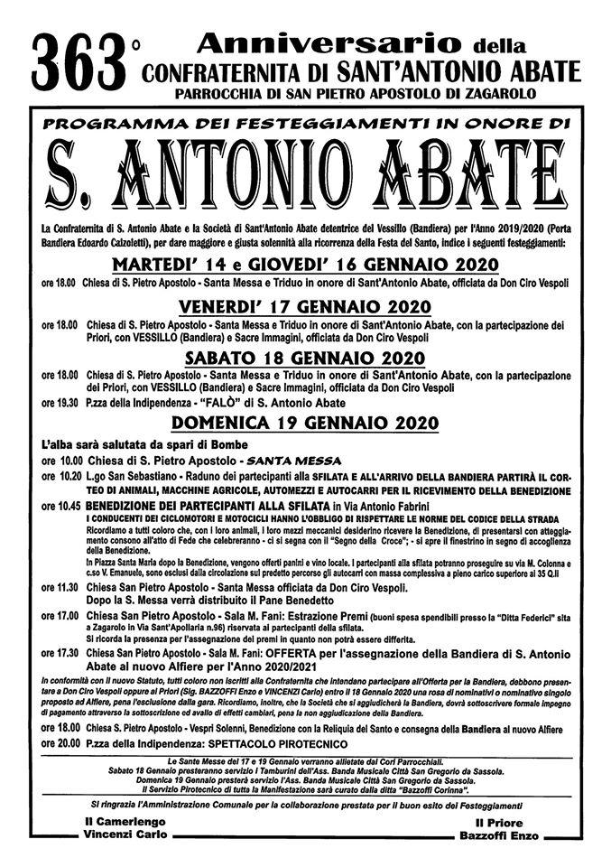 Festeggiamenti di Sant'Antonio Abate a Zagarolo
