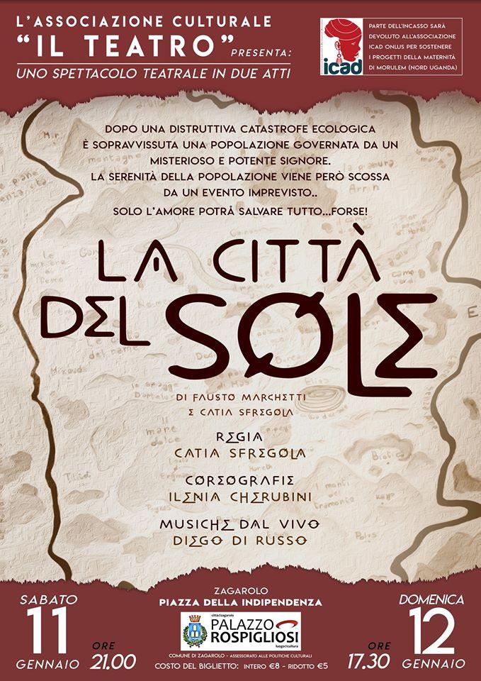 La Città del sole - Spettacolo teatrale in due atti a Zagarolo