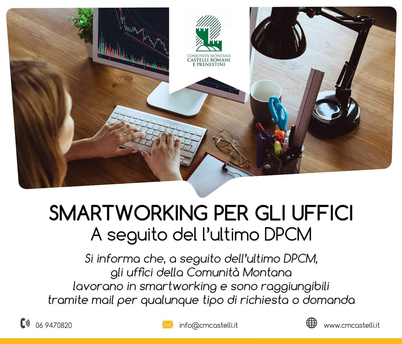 GLI UFFICI DELLA COMUNITÀ MONTANA IN SMART WORKING