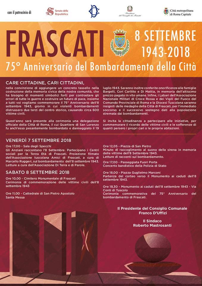 a Frascati in ricordo dell'8 Settembre 1943