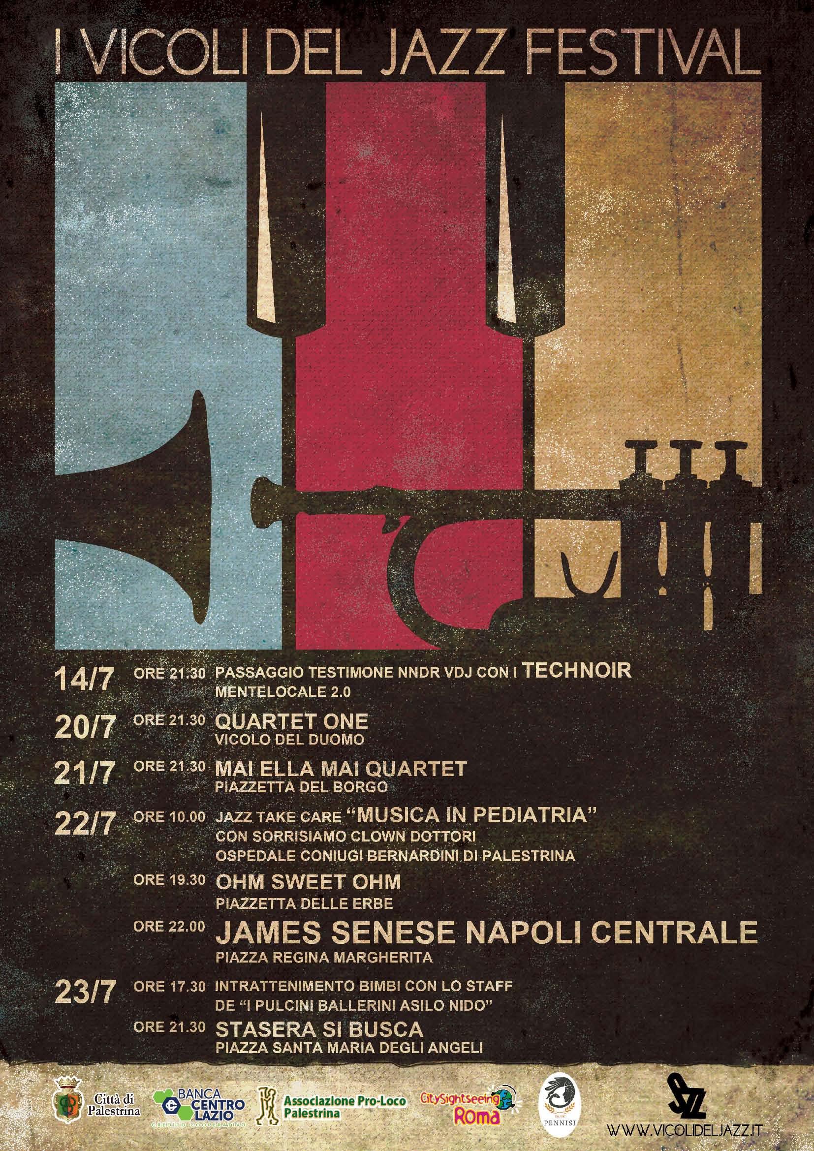 A Palestrina tornano i Vicoli del Jazz 2017