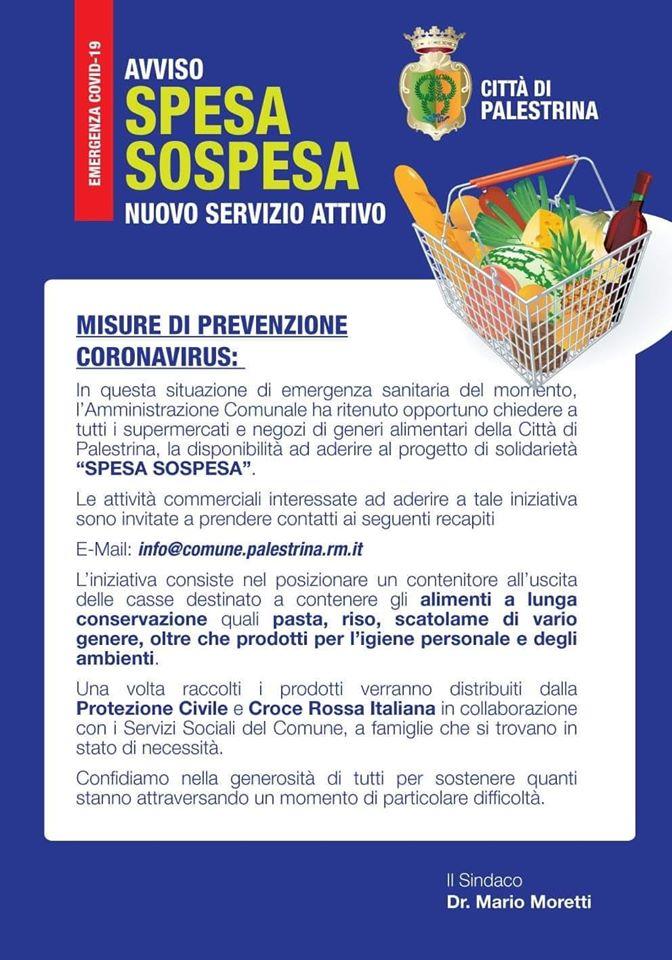 EMERGENZA COVID19 - SPESA SOSPESA