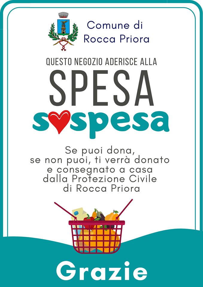 Spesa sospesa nei negozi di Rocca Priora
