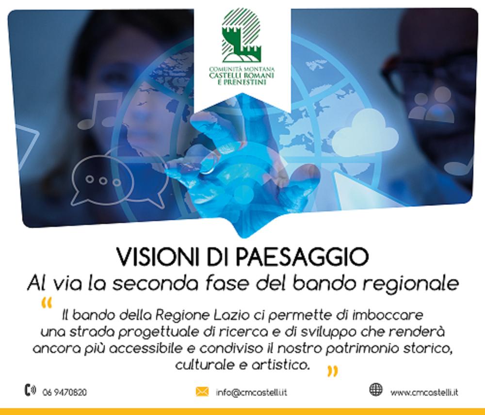 Visioni di paesaggio tra arte, storia, scienza e letteratura nei Colli Albani e Prenestini, promosso il progetto nell'ambito dei distretti tecnologici per i beni culturali del Lazio