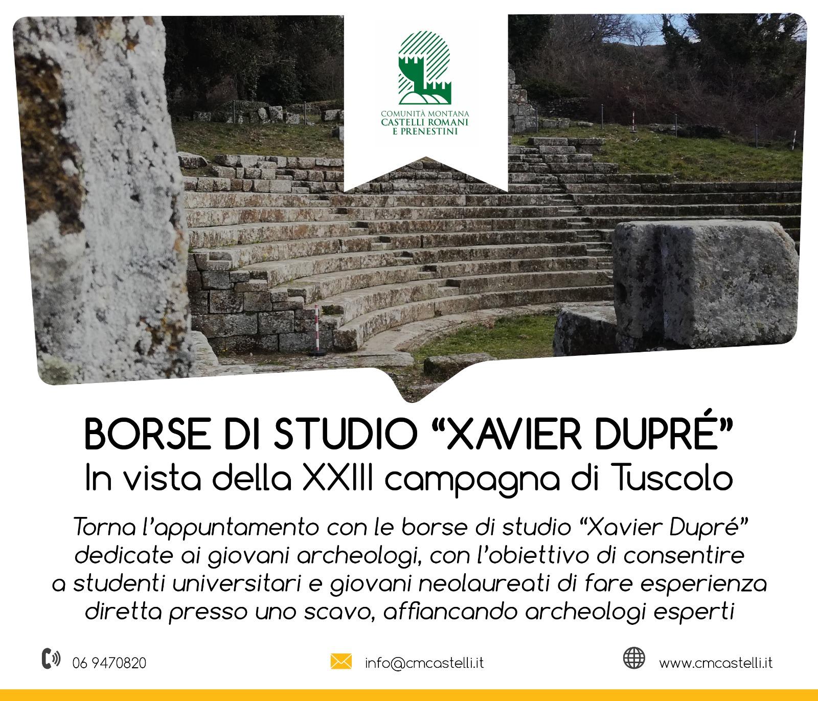 SCAVI 2020 SEI BORSE DI STUDIO PER SEI GIOVANI ARCHEOLOGI
