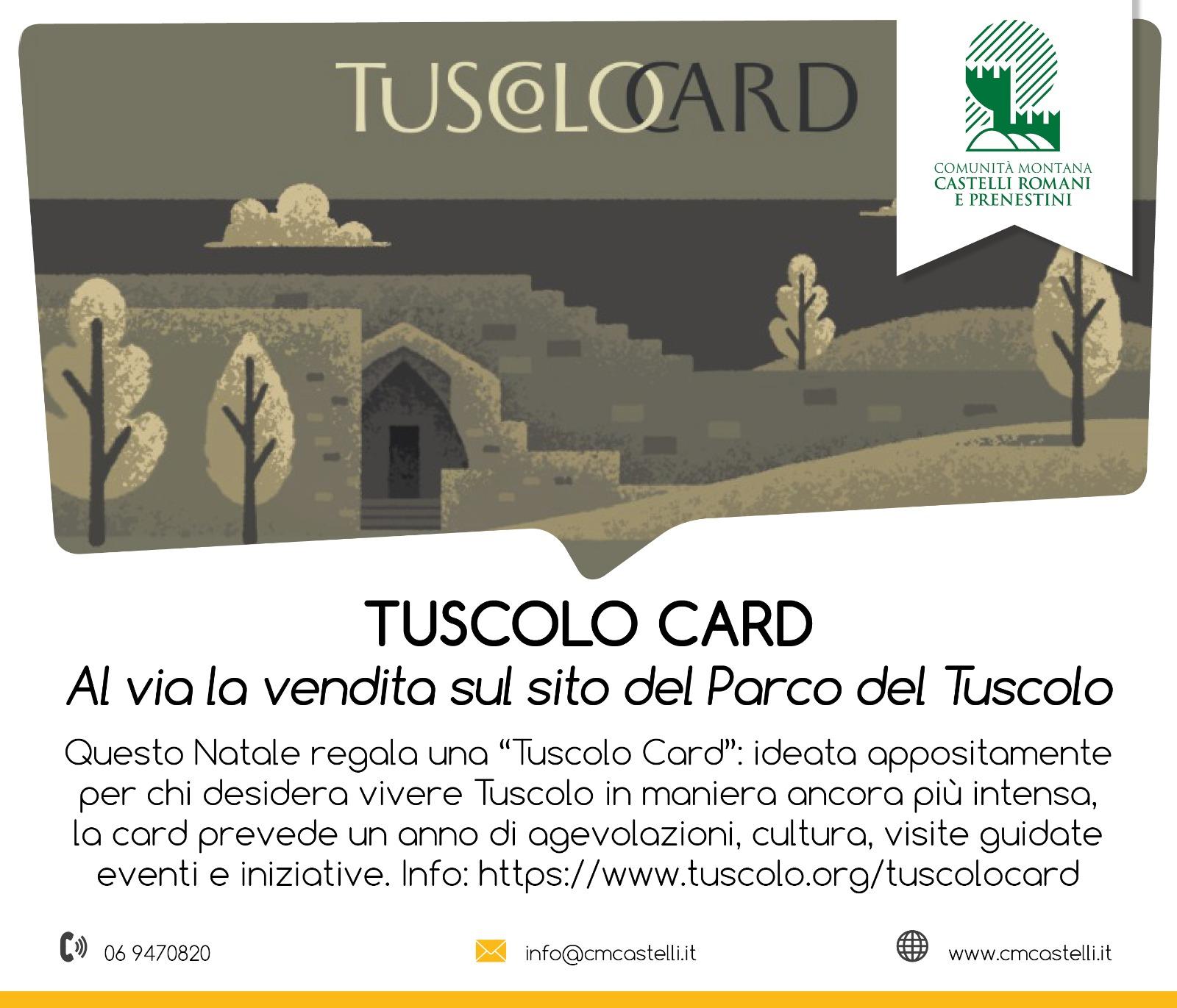 A NATALE REGALA TUSCOLO, IN ARRIVO LA NUOVA CARD