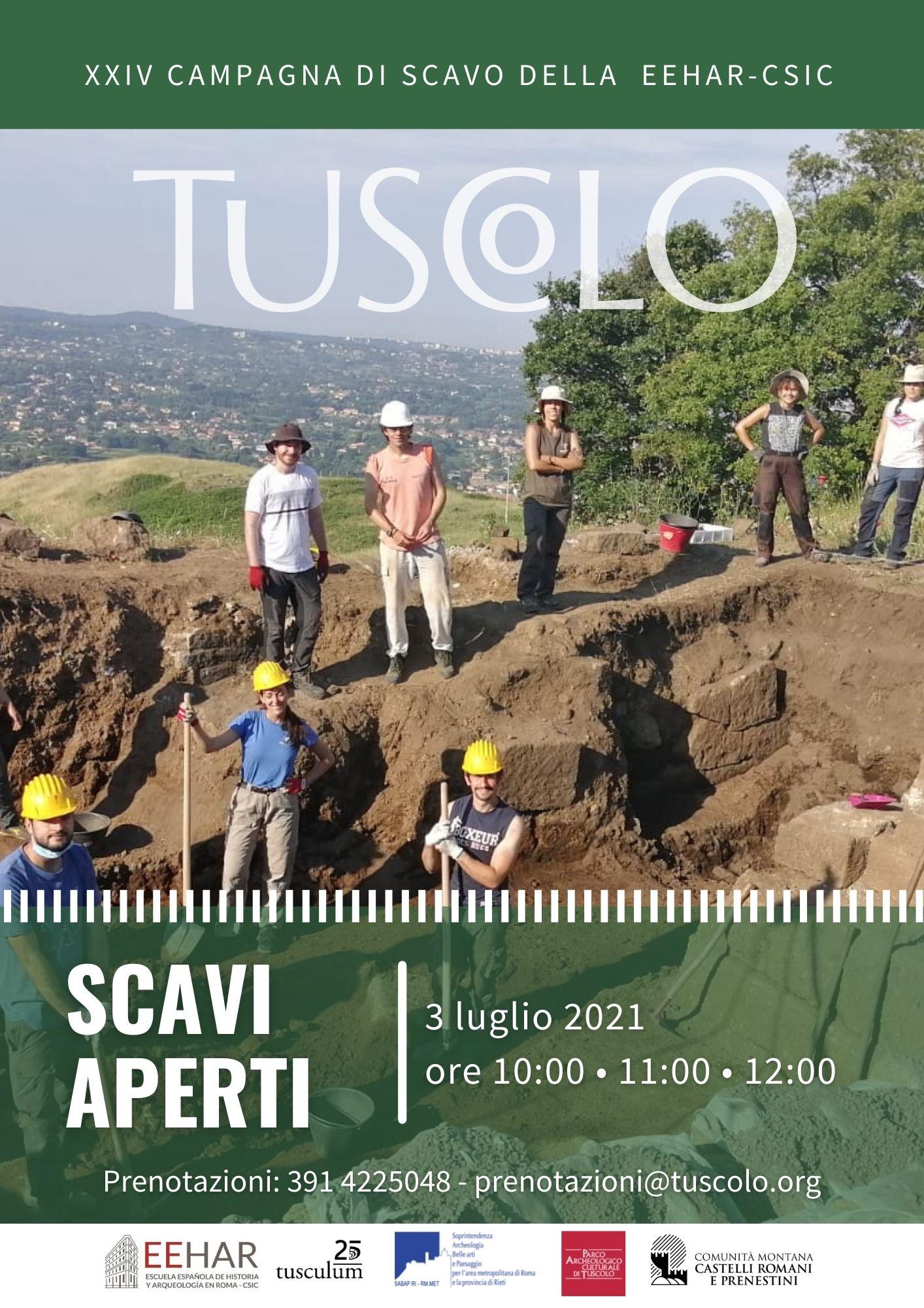 3 LUGLIO 2021 - SCAVI APERTI PER TUTTI NEL PARCO ARCHEOLOGICO DI TUSCOLO